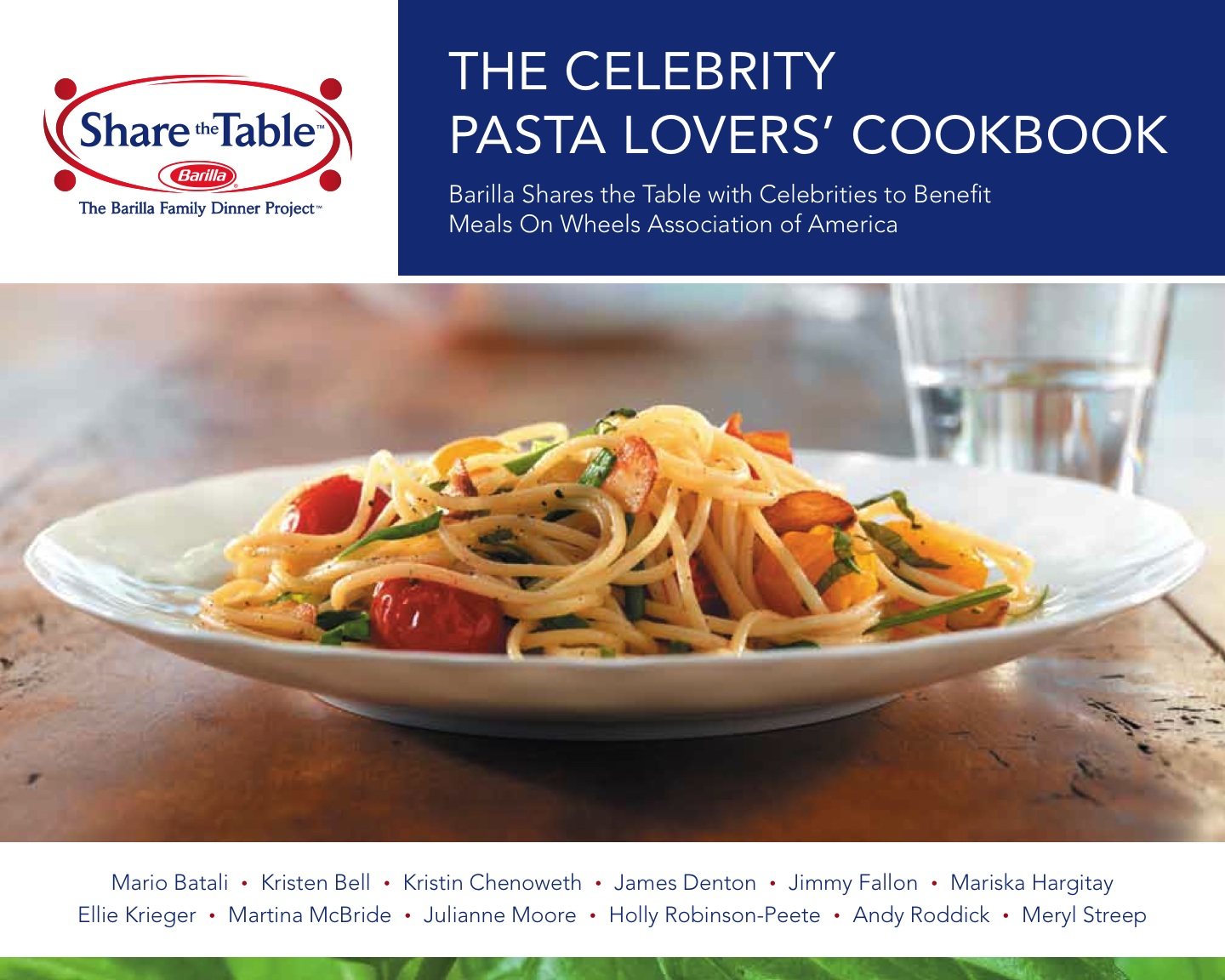 Barilla's New The 'Celebrity Pasta Lovers' Cookbook ...