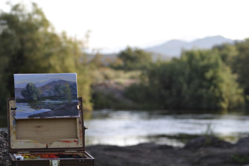 karen mclain studio outdoor painting weather has arrived. Black Bedroom Furniture Sets. Home Design Ideas