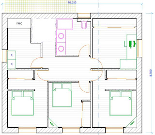 Plan de maison etage 4 chambres for Plan maison californienne