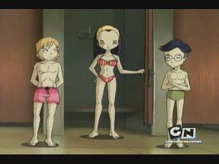 naked aelita from code lyoko in the shower