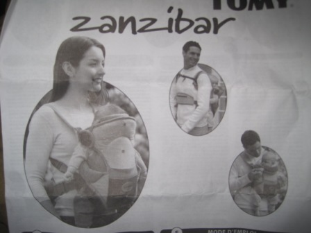 tomy zanzibar baby carrier instructions