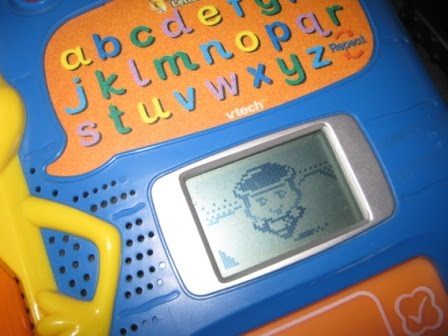 touch on letters to learn it teaches you how to write write on the pad and whatever u write appears on screen cond 910