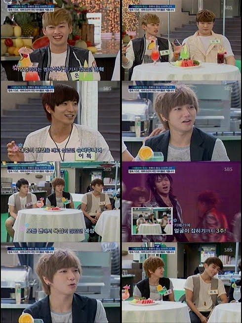 """Eunhyuk confessa: """" Quando ouvi que o Suju iria ter 12 membros, eu pensei que fosse a câmara escondida!"""" SBSGoodMorning52"""