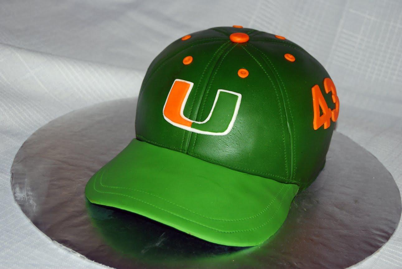 Leelees Cake Abilities Miami Hurricanes Cap Cake