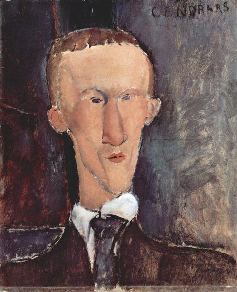 Retrato de Blaise Cendrars por Amedeo Modigliani 1917