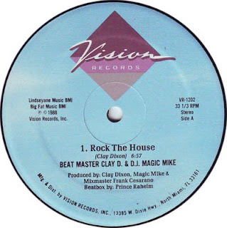 Beat Master Clay D. & D.J. Magic Mike - Rock The House (Vinyl, 12'' 1988)(Vision Records)