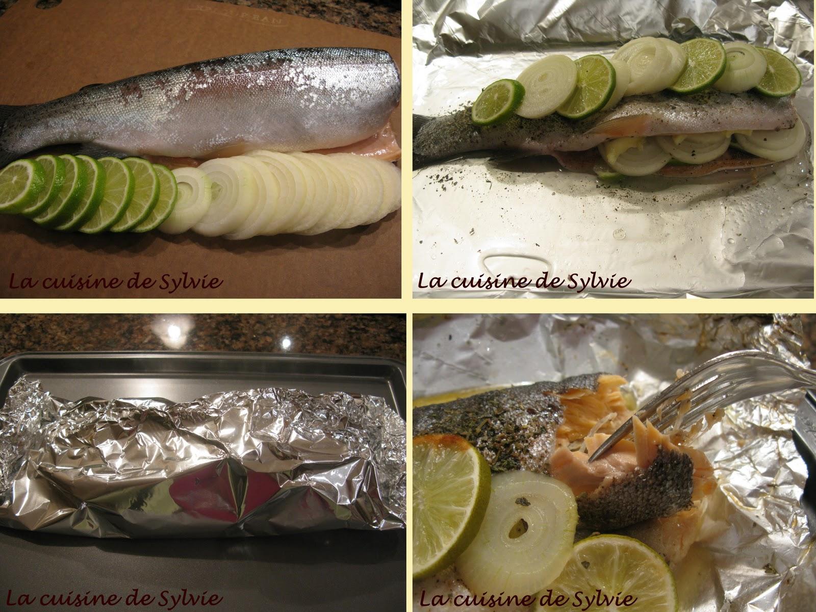 La cuisine de sylvie truite au four en papillote - Comment cuisiner la truite au four ...