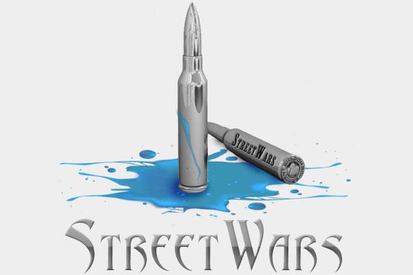 Street Wars Logo Design Branding Bullet Ammo Alice Graphix AliceGraphix