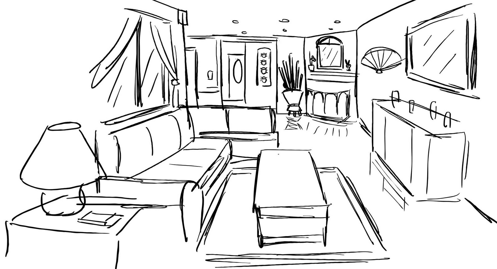 1000 Images About Perspective Rooms Buildings On: room sketches interior design