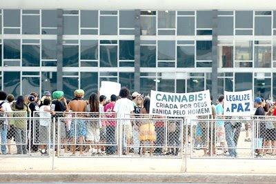 Protesto pela legalização da maconha
