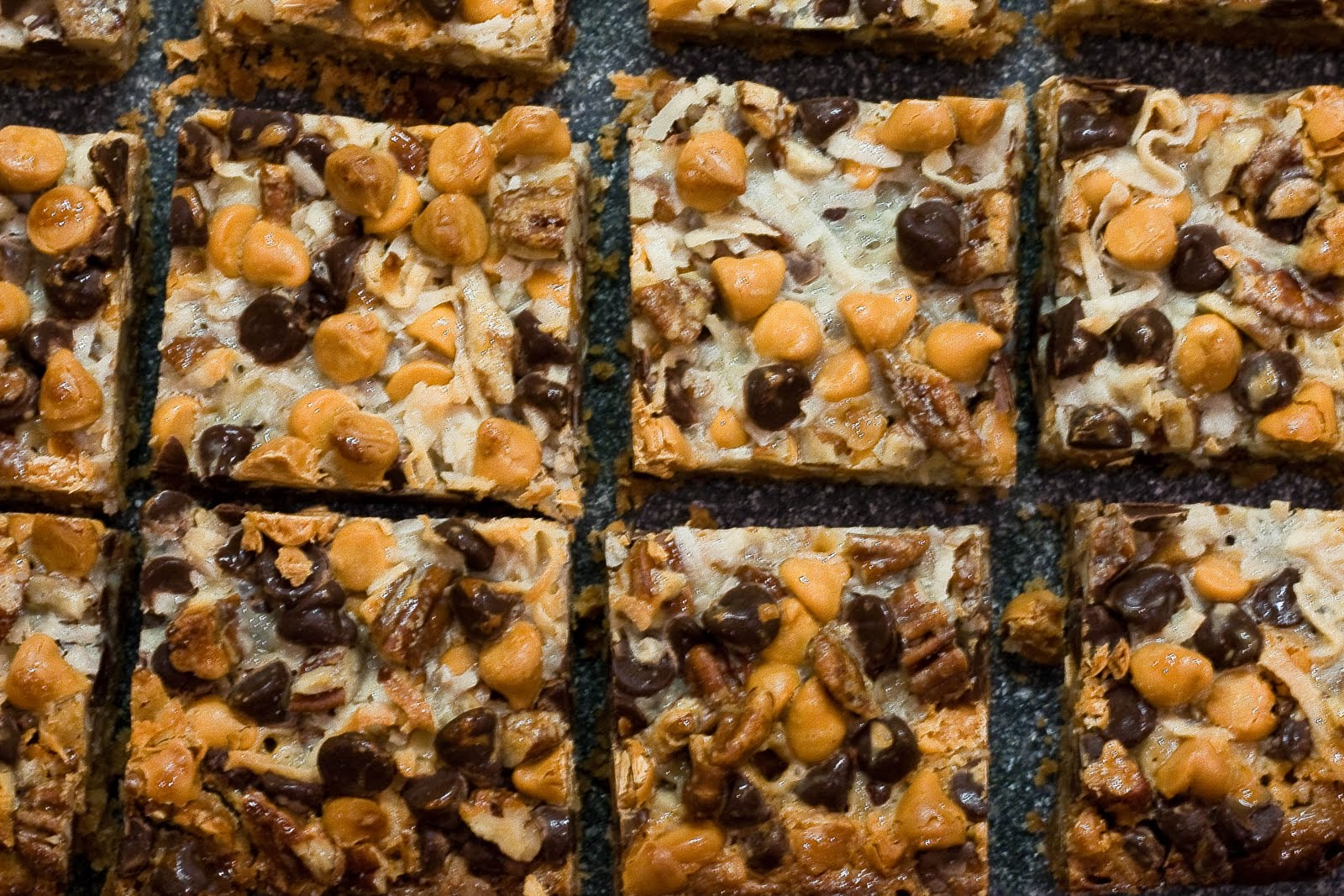 Magic Bars — butterscotch , chocolate , dessert , easy , fast ...