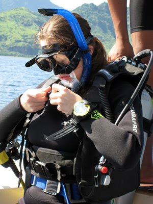 Laura Schlegel, SDI OWSD Dive 4 ready for action Captain