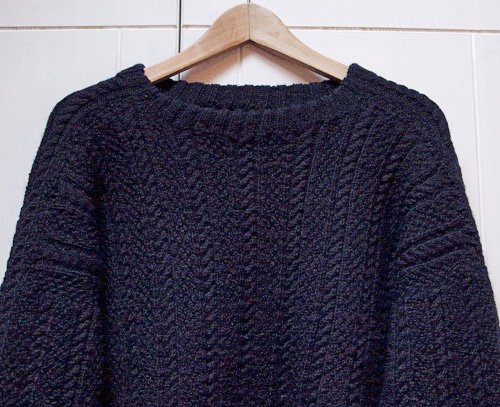 Knitting Patterns For Guernsey Sweaters : dis knitting: Seamless Guernsey Sweater