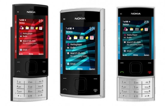 Pin Nokia X3 00 Mobile Phone Black Red 12mth Local Warranty Tcf on ...