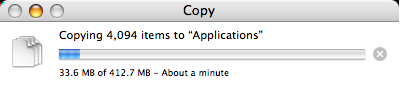MAMP Application Install Copy Progress