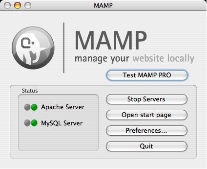 MAMP StartPage