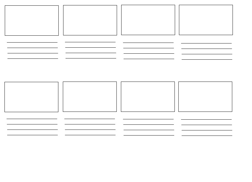 Film&Video12: Storyboard Template