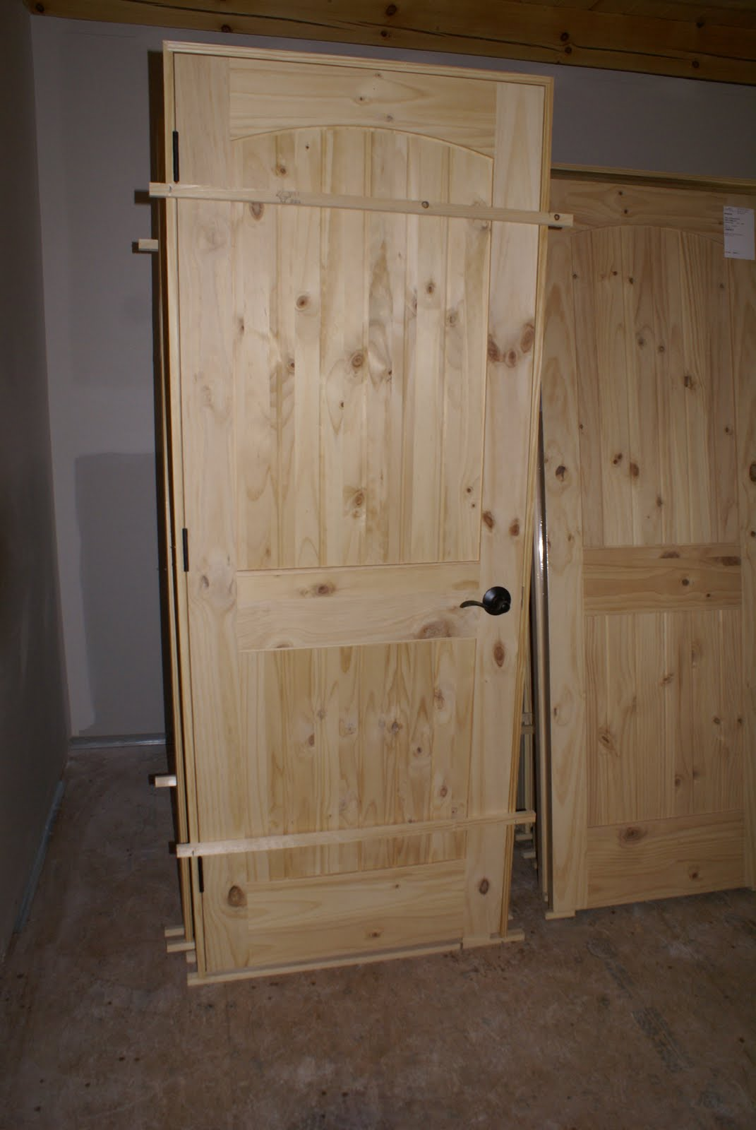 Here S A Few Pictures Of The Interior Wood Doors We Re Using These Are