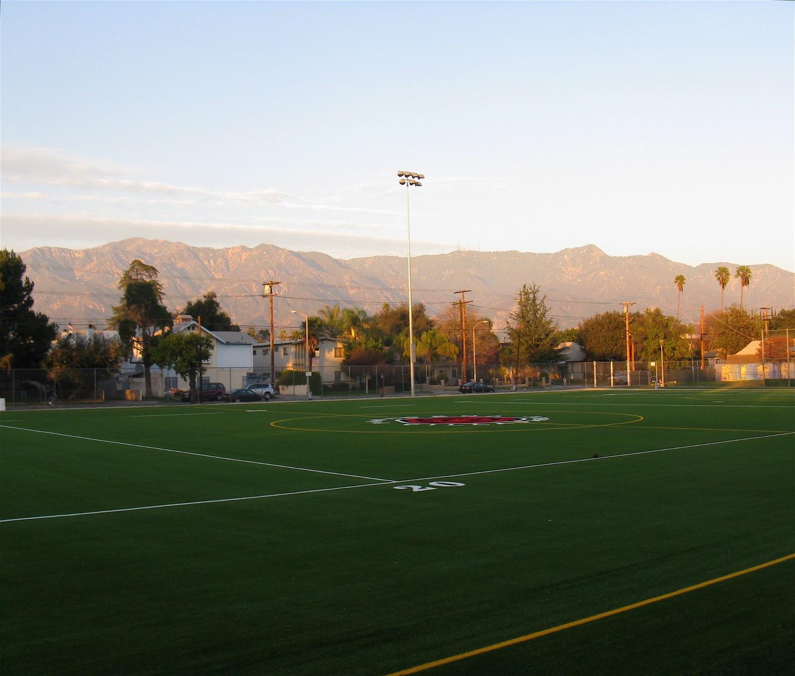 The Sky Is Big In Pasadena New Soccer Field At Villa Parke