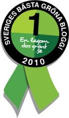 En lagom dos grönt har utsett sveriges bästa gröna bloggar