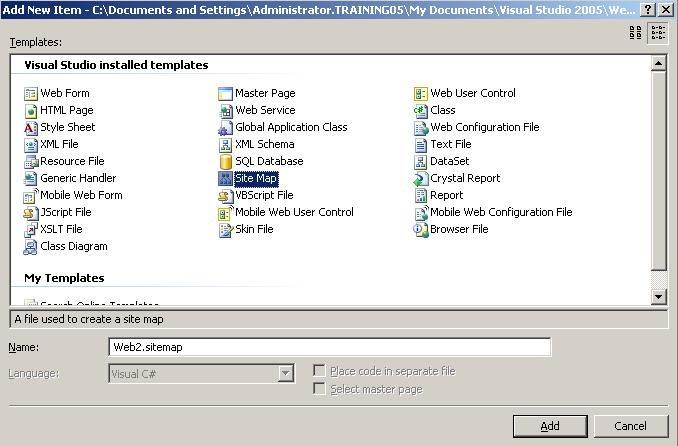 Site Navigation control in asp.net - Asp.Net, C#, SQL Blog