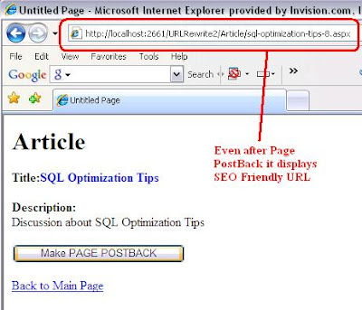 Url Rewriting With Urlrewriter Simplest Way Asp C Sql Blog