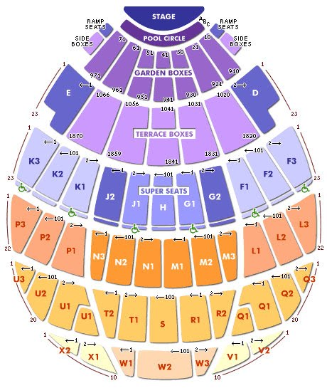 Hollywood Bowl Seating Chart Pool Circle Pin Hollywood