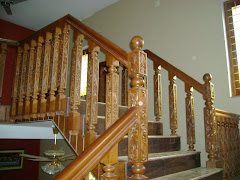 Teak wood stair case