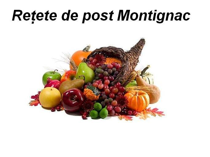 Retete de post Montignac