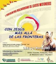 I Encuentro de Misioneros Laicos de los Países Bolivarianos organizado en Lima por la CONAMIL