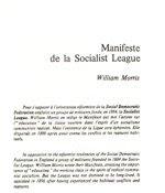 Manifeste de la Socialist League (1885)