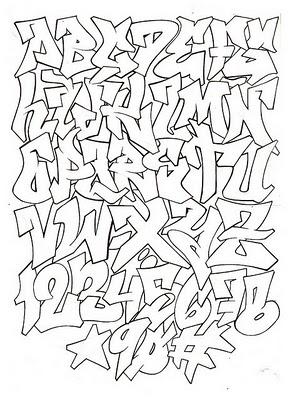 abecedarios en letra de graffitis