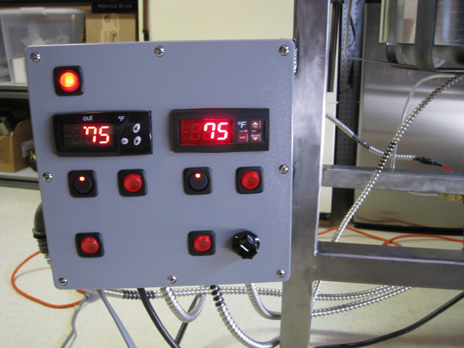 Black Alley Brewing: The Control Panel and Sensors #B11A2A