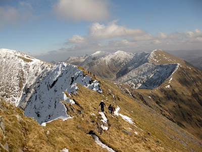 The Coomloughra Horseshoe walk in the Macgillycuddys Reeks mountain range in county Kerry