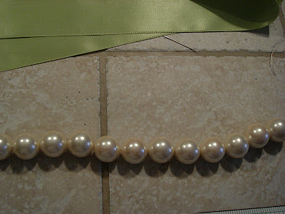 how to make a pearl dog collar