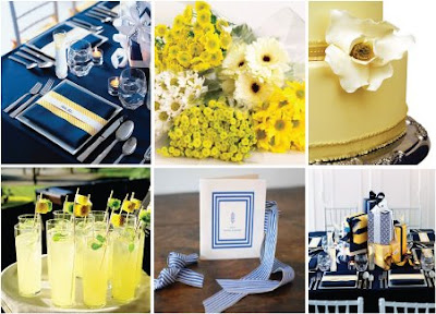 Combination of yellow and other colors wedding decor