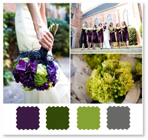Color Palette Eggplant And Green