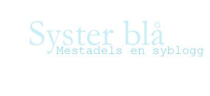 syster blå