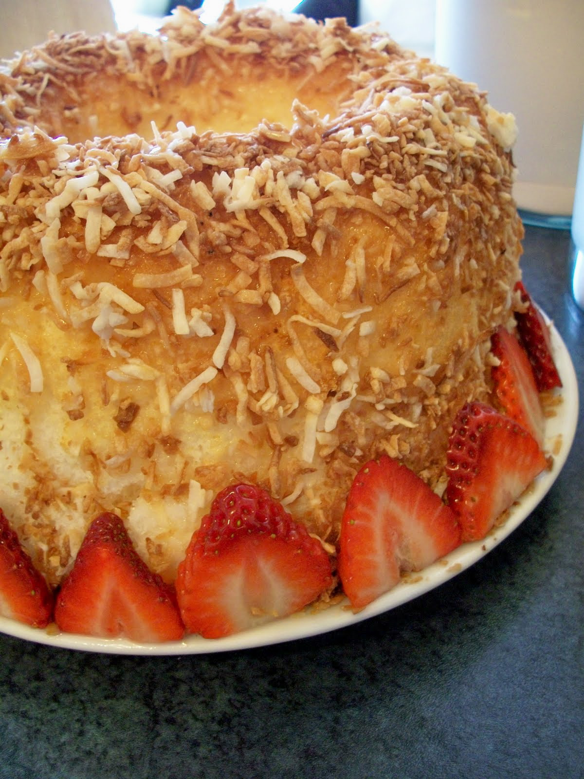 Brooke Bakes : Coconut Angel Food Cake