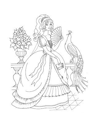 Princess Coloring Sheets on Princess Coloring Pages  November 2008