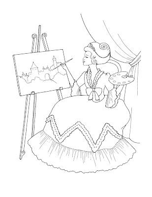 princess coloring pages free. stove model princess