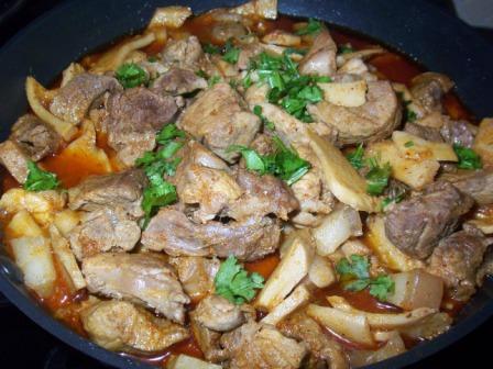 Jhovaan meal in konkani recipe thevo chu pork for Assamese cuisine in delhi