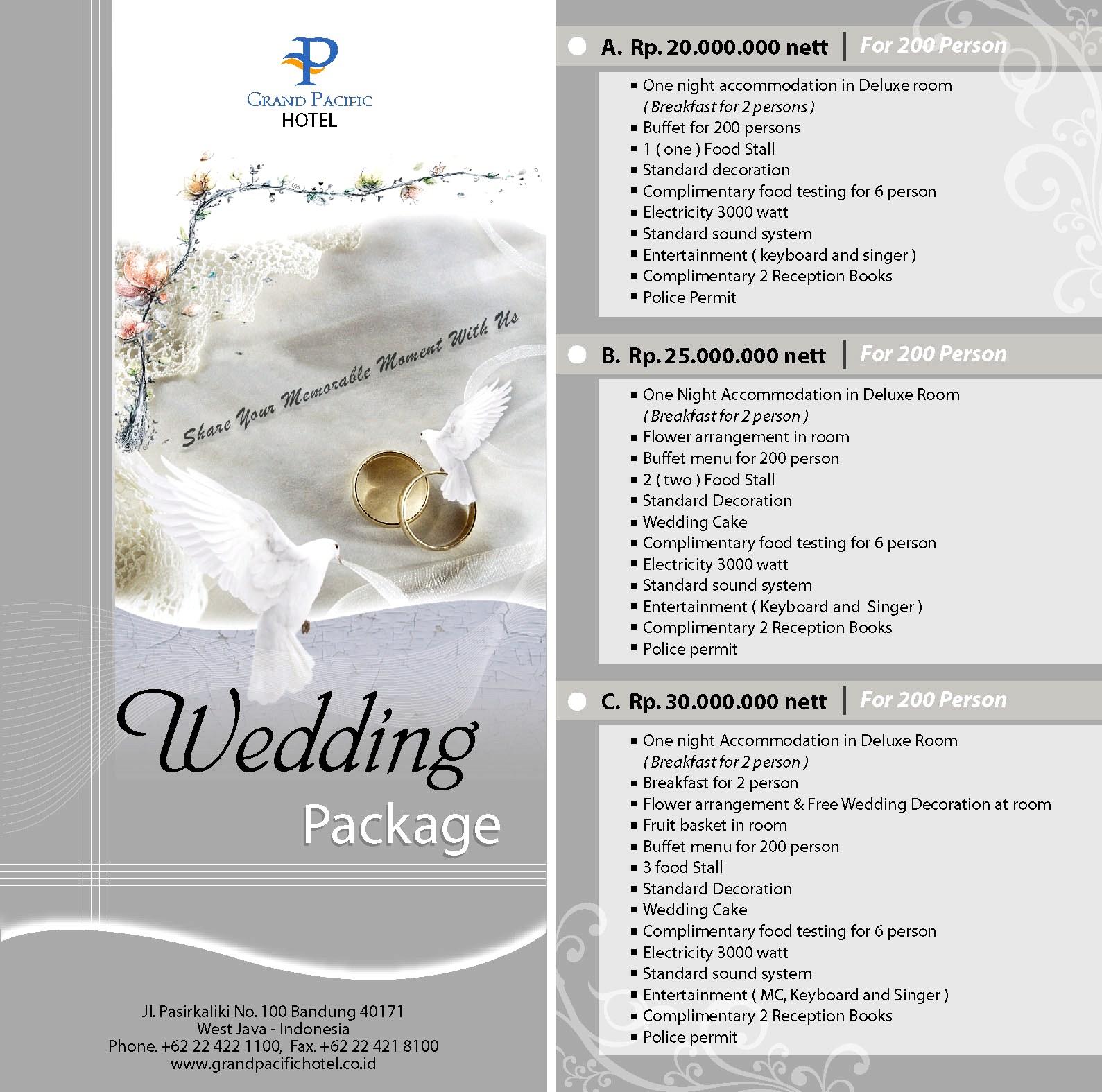 Wedding Package Grand Pacific Hotel Bandung