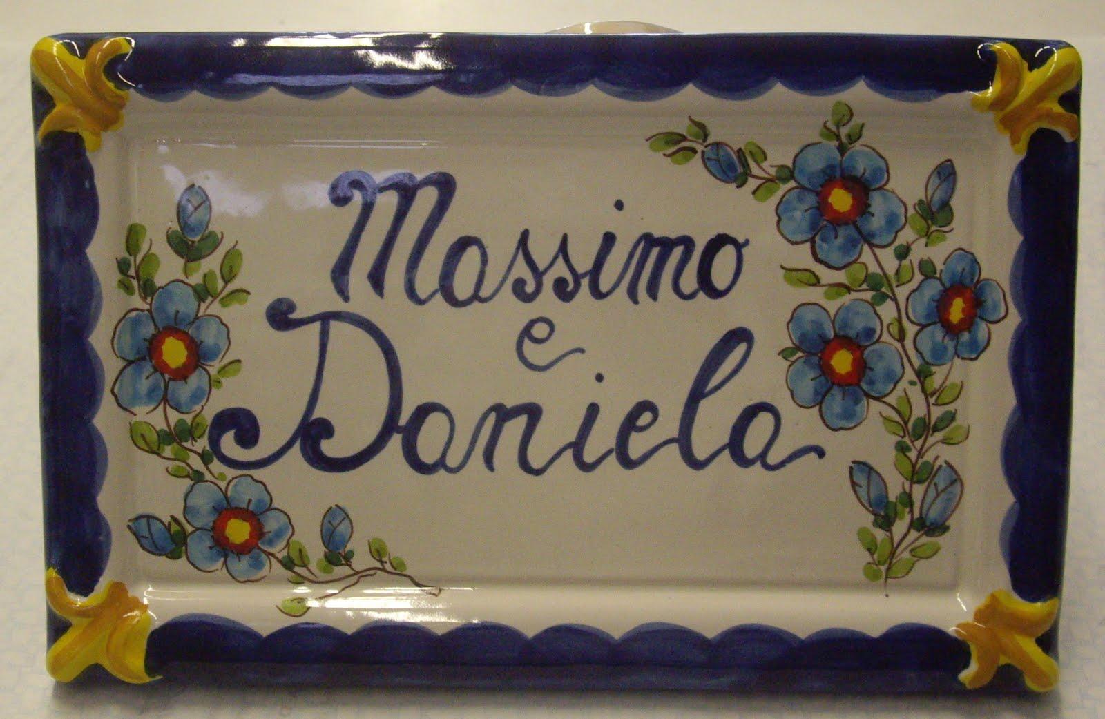Ceramica artistica falcone piastrelle personalizzate