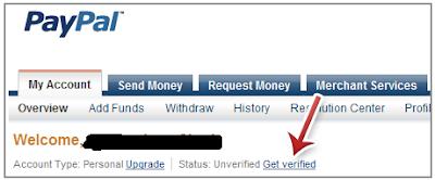 verifikasi paypal dengan bank lokal