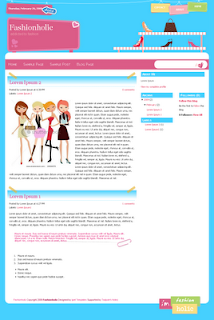 fashionholic blogger template