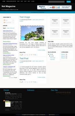 notmagazine4columntemplate 15 template theme blogspot keren