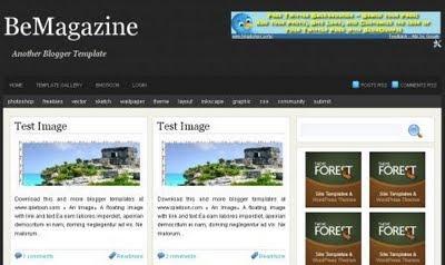 BeMagazine - Blogger Template