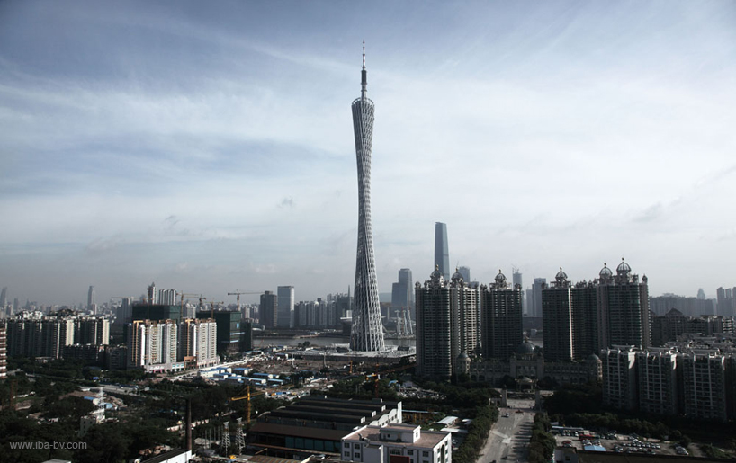 Canton longest tower with longest spiral staircase, China