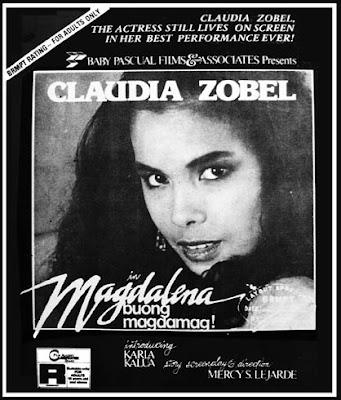 BOLD STARS OF THE 80s # 4: THE SHORT MOVIE STINT OF CLAUDIA ZOBEL